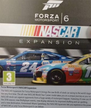 Illustration for article titled Forza Six NASCAR Expansion Leaked