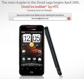 Illustration for article titled HTC Incredible Is Droid Incredible, Will Launch With Verizon April 29th