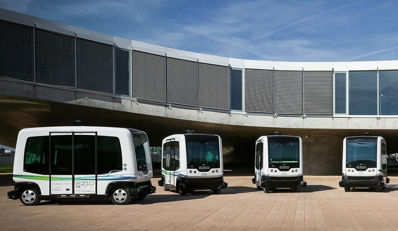 Illustration for article titled Meet the US's First Autonomous Buses