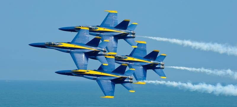Illustration for article titled The Blue Angels Look Totally Suicidal in this Photo
