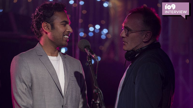 Star Himesh Patel (left) and director Danny Boyle (right) on the set of Yesterday.