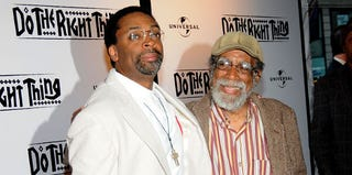 Spike Lee and his father, Bill Lee (Johnny Nunez/WireImage/Getty Images)