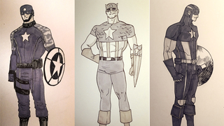 Illustration for article titled Kris Anka's 'Cap A Day' Is A Great Gallery Of Steve Rogers' Best Looks