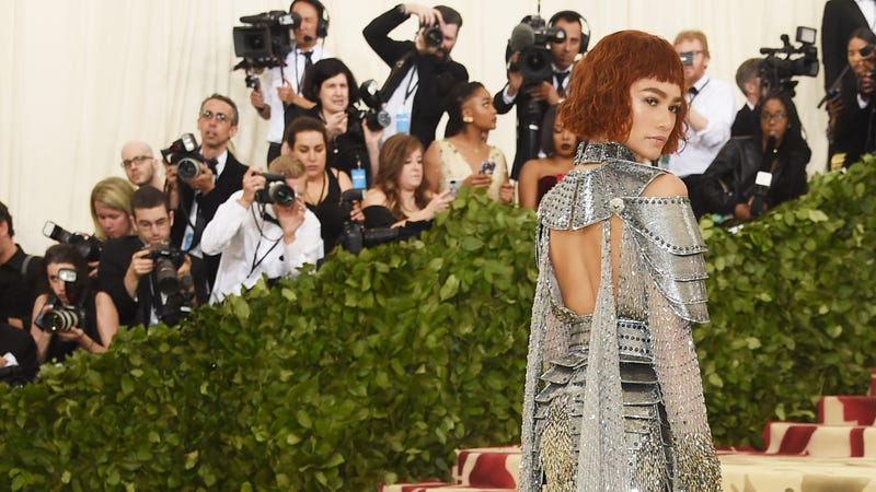 Zendaya attends the Heavenly Bodies: Fashion and the Catholic Imagination Costume Institute Gala at the Metropolitan Museum of Art on May 7, 2018, in New York City.