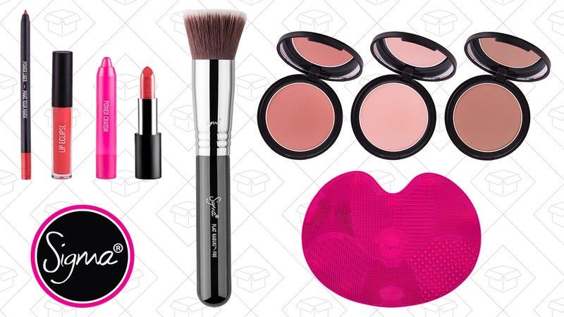 Make Your Pout Lip Set, $35   F80 Flat Kabuki Brush, $17   All-Over Face Powder Set, $32   Brush Cleaning Mat, $22
