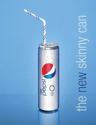 Illustration for article titled Pepsi's Fashion Week Soda Can Gets Gaunt