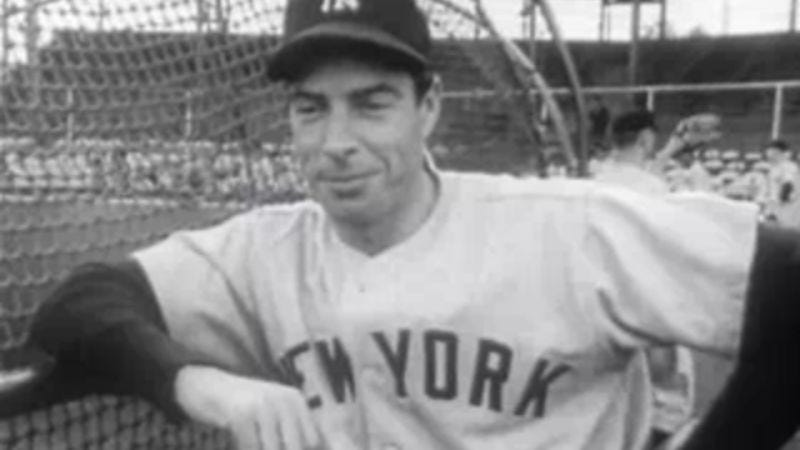 "Joe DiMaggio, whose streak of 56 games with at least one hit was called ""the most extraordinary thing that ever happened in America sports"" by Stephen Jay Gould."