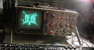Illustration for article titled Una partida al Quake como nunca la has visto: con osciloscopio