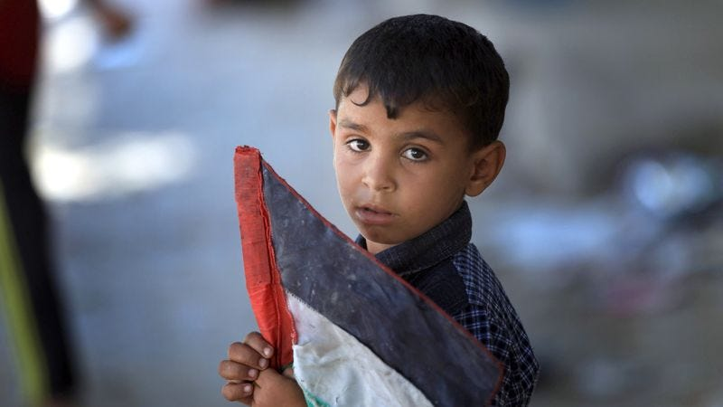 Illustration for article titled 8-Year-Old Palestinian Boy Pleasantly Surprised He Hasn't Been Killed Yet