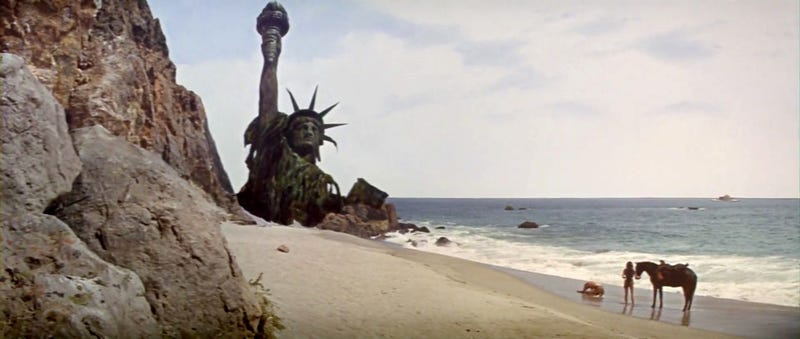 Screenshot from the 1968 documentary Planet of the Apes