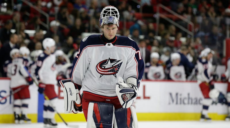 "Illustration for article titled Sergei Bobrovsky Sent Home By Blue Jackets After ""Incident"""