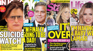 Illustration for article titled This Week In Tabloids: George Clooney's Sperm Aren't Pranking Amal!