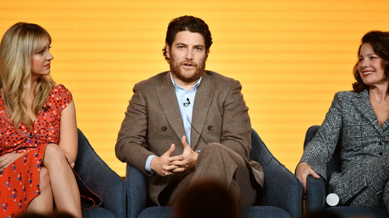 Adam Pally, in the middle, with Fren Drescher (right) and Abby Elliott.