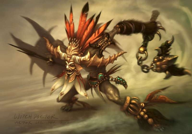 Illustration for article titled Diablo III's Witch Doctor Conjures Up Memories, Concerns