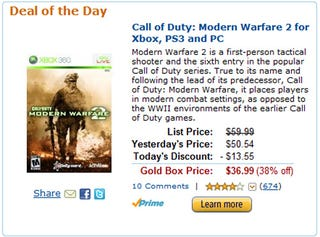 Illustration for article titled Amazon Answers The Call Of Duty With Savings