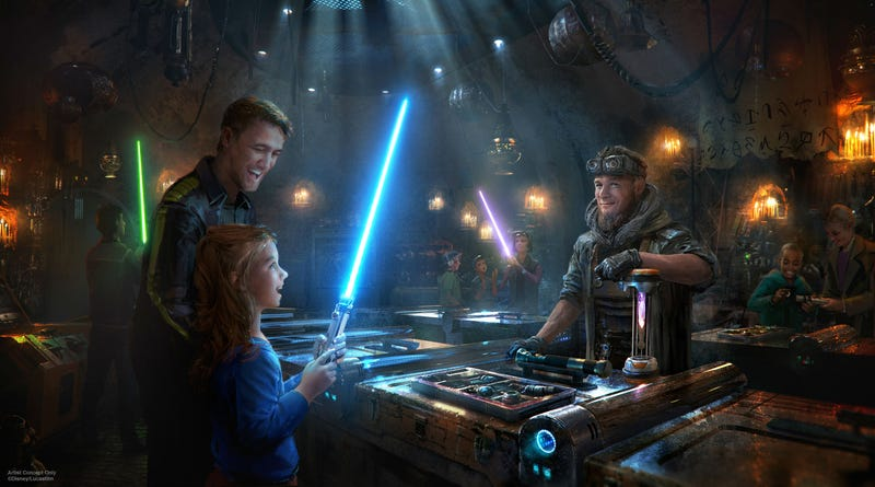 Savi's Workshop, where you get to build your own lightsaber, is part of Star Wars Galaxy's Edge.