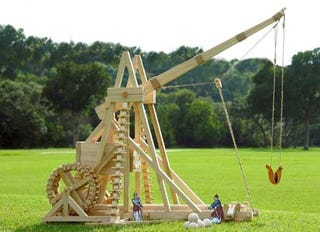 Illustration for article titled Home Trebuchet Kit, a Few Feet Short of Perfection