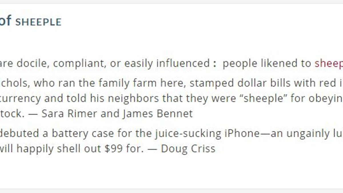 Merriam-Webster Uses Apple Fans to Define 'Sheeple'