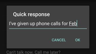 Illustration for article titled How to Auto-Respond to Calls With a Text on Android