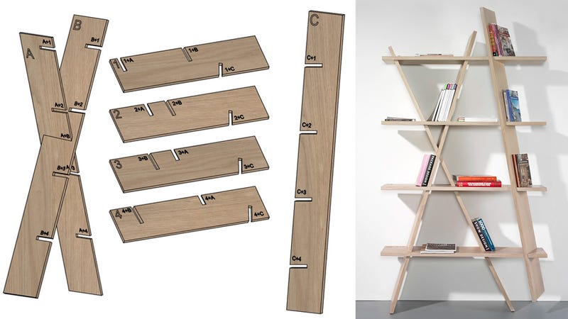 You Ll Never Forget How To Build A Bookshelf With Plans Carved Into Its Pieces