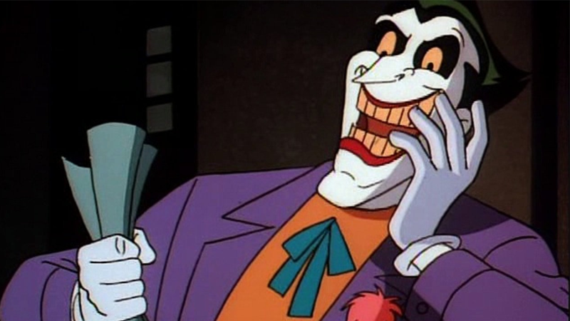 Tim curry on why his joker was scrapped from batman the animated image warner bros voltagebd Choice Image