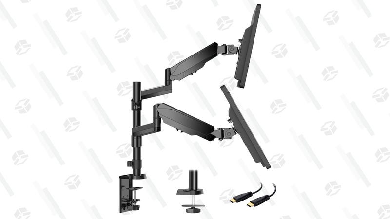 Dual Arm Monitor Stand, Full Motion Adjustable Gas Spring Monitor Mount Riser | $43 | Amazon | Clip coupon on page and use code KJ9ONK65