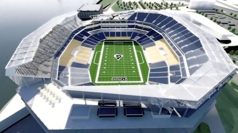 Illustration for article titled St. Louis Rams Threaten To Leave Town Unless Taxpayers Personally Build Stadium With Bare Hands