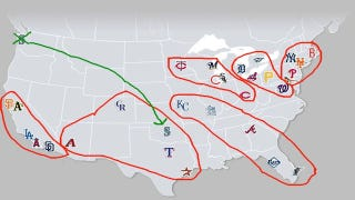 Illustration for article titled Our Simple Guide To MLB Realignment, Or: Sorry Seattle, You're Losing Another Team