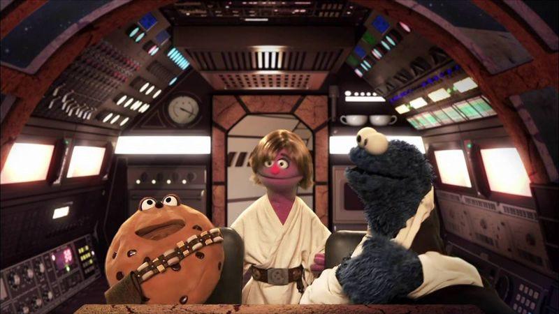 """Screenshot: Sesame Street's film parody """"Star Smores"""""""