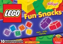 Illustration for article titled Nutrition-Free Kellogg's Lego Fruit Flavored Snacks, Lego Logo and All