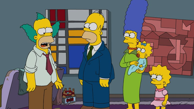 Bart krusty marge and skinner unsuccessfully vie for our attention in a forgettable simpsons - Marge simpson et bart ...