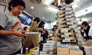 Illustration for article titled Fans wait in line overnight for new Haruki Murakami novel