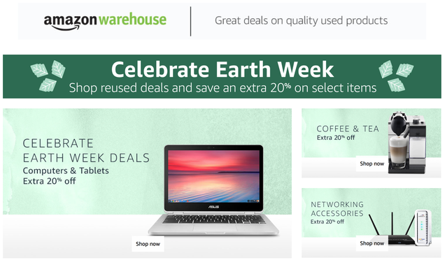 Celebrate Earth Week With An Extra 20% Off Used Items From Amazon Warehouse