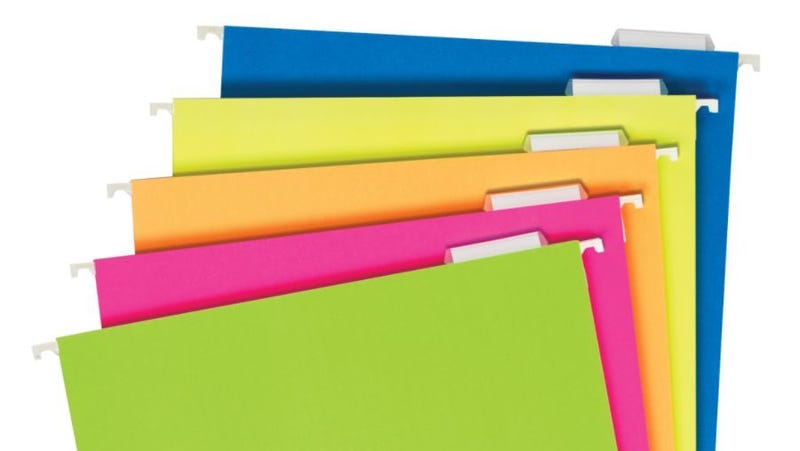 """Illustration for article titled The """"One File Box, One Folder"""" Back-to-School Shopping Rule"""