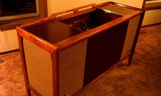 We ve shown you how to turn a 1950s radio into a modern stereo speaker  but  if you have a slightly larger  old school stereo  DIYer Travis shows us how  he  Modernize an Old Audio Cabinet with New Equipment. Restoring Old Speaker Cabinets. Home Design Ideas