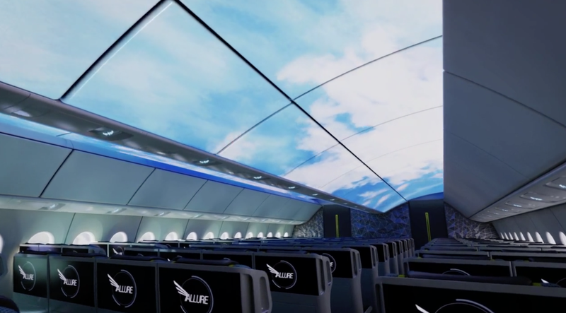 Illustration for article titled Boeing Wants to Turn the Interiors of Its Planes Into Giant Screens