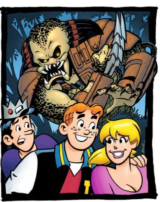 Illustration for article titled My God, Archie Meets Predator Is Actually A Thing That Is Happening