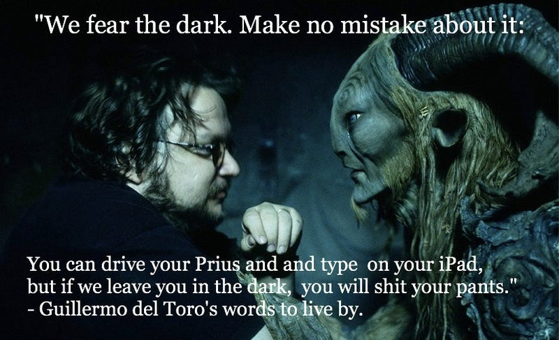 "Illustration for article titled ""If you get bored with nothing to do, you are not a writer"": Guillermo del Toro's words to live by"