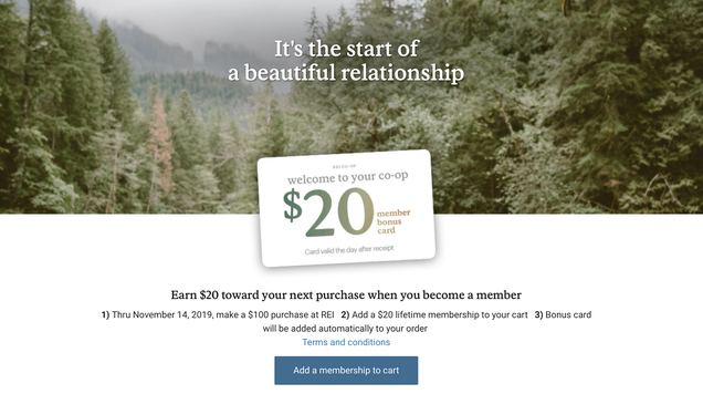 REI Is Basically Giving Away Lifetime Memberships With Any $100 Purchase