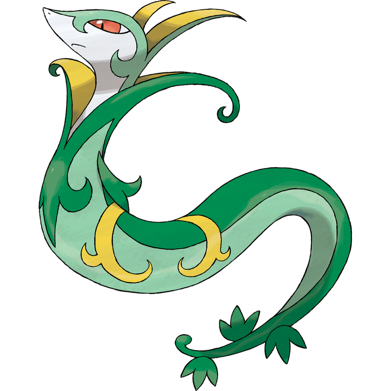 Illustration for article titled Contrary Serperior Available (UPDATE: Other Unova starters soon!)
