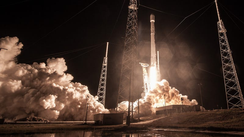 The launch of a Falcon 9 rocket. (Image: SpaceX)