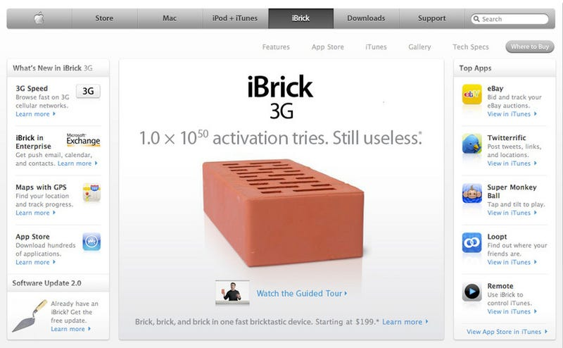 Apple Cancels All iPhone 3G Orders, Releases iBrick 3G