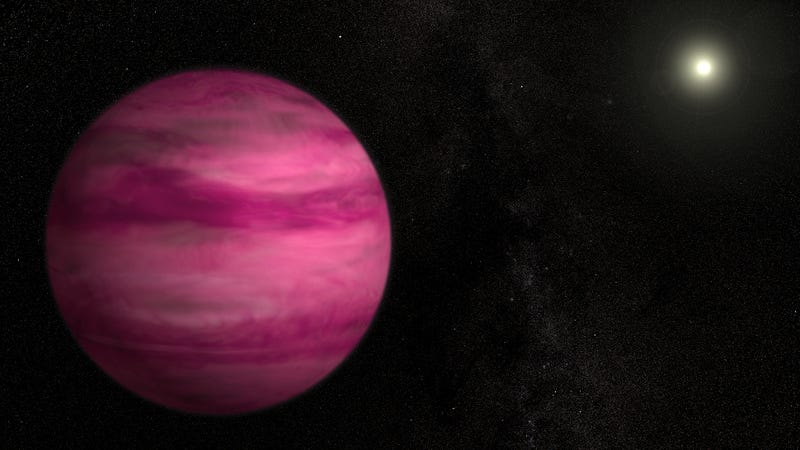 Illustration for article titled Astronomers Discover a Pink Planet Around a Sun-like Star