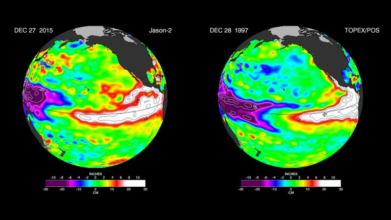 Illustration for article titled Next Year's El Niño Looks Eerily Similar to 1998's Incredibly Powerful El Niño