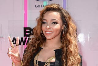Tinashe attends the BET Awards at the Nokia Theatre L.A. Live June 29, 2014, in Los Angeles.Earl Gibson III/Getty Images for BET