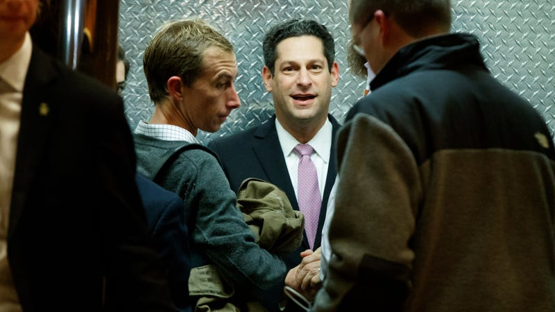 Joel Kaplan entering an elevator at Manhattan's Trump Tower for a meeting with Donald Trump in late 2016.