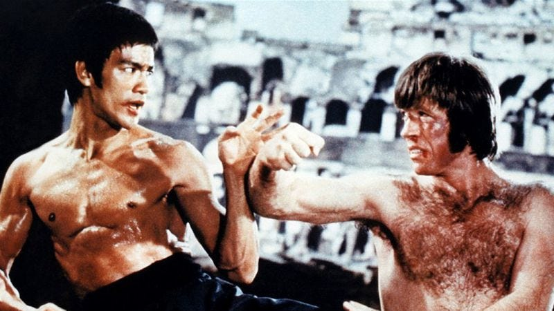 Резултат с изображение за bruce lee enter the dragon chuck norris