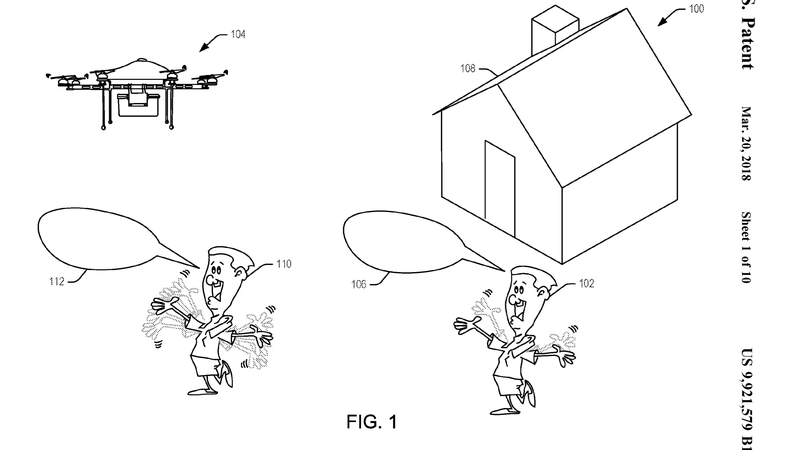 Illustration for article titled Amazon Patent Points to Future in Which Humanity Is Reduced to Screaming at Drones