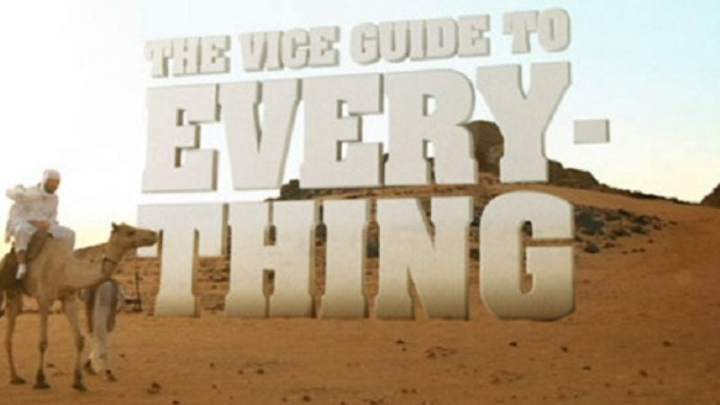 Illustration for article titled The Vice Guide To Everything