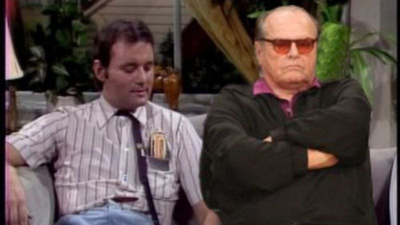 """Bill Murray and Jack Nicholson in one of their classic sketches as """"The Nerds."""""""